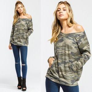 JANIE Print Long Sleeve Top